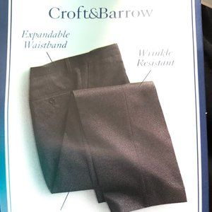 NWT CROFT & BARROW  MENS SLACKS/TROUSER  33 x 32
